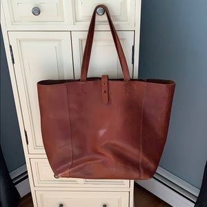 Lucky brand leather tote